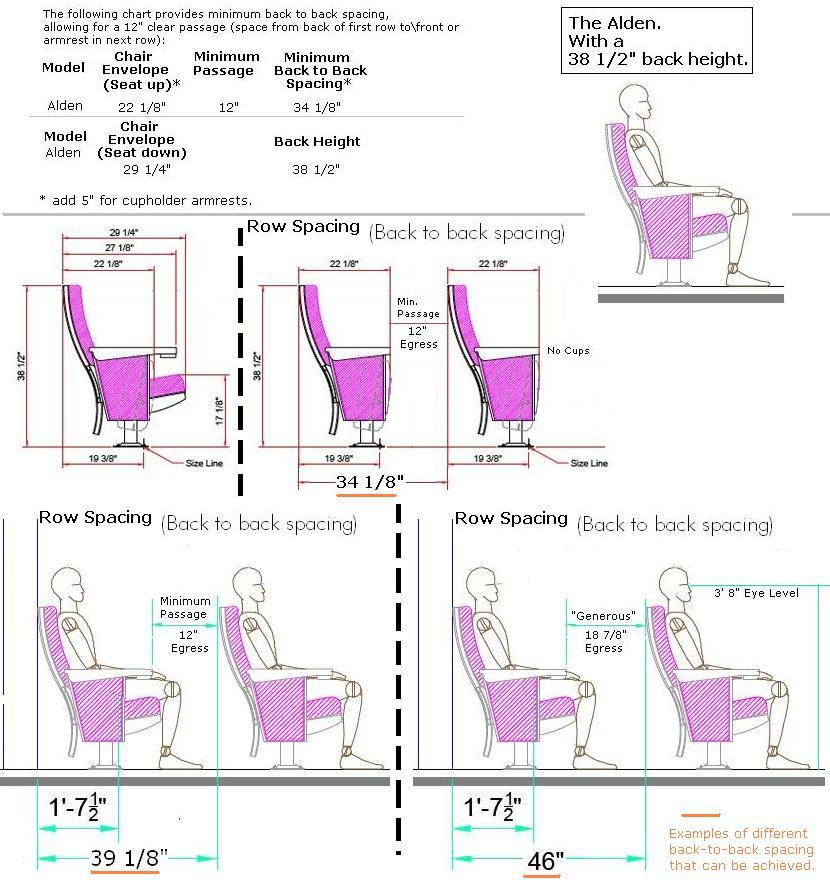 Alden Theater Seating Specification Page Auditorium Chairs Seats Celebrityseating Com