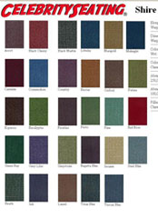 Home theater seating fabric shire